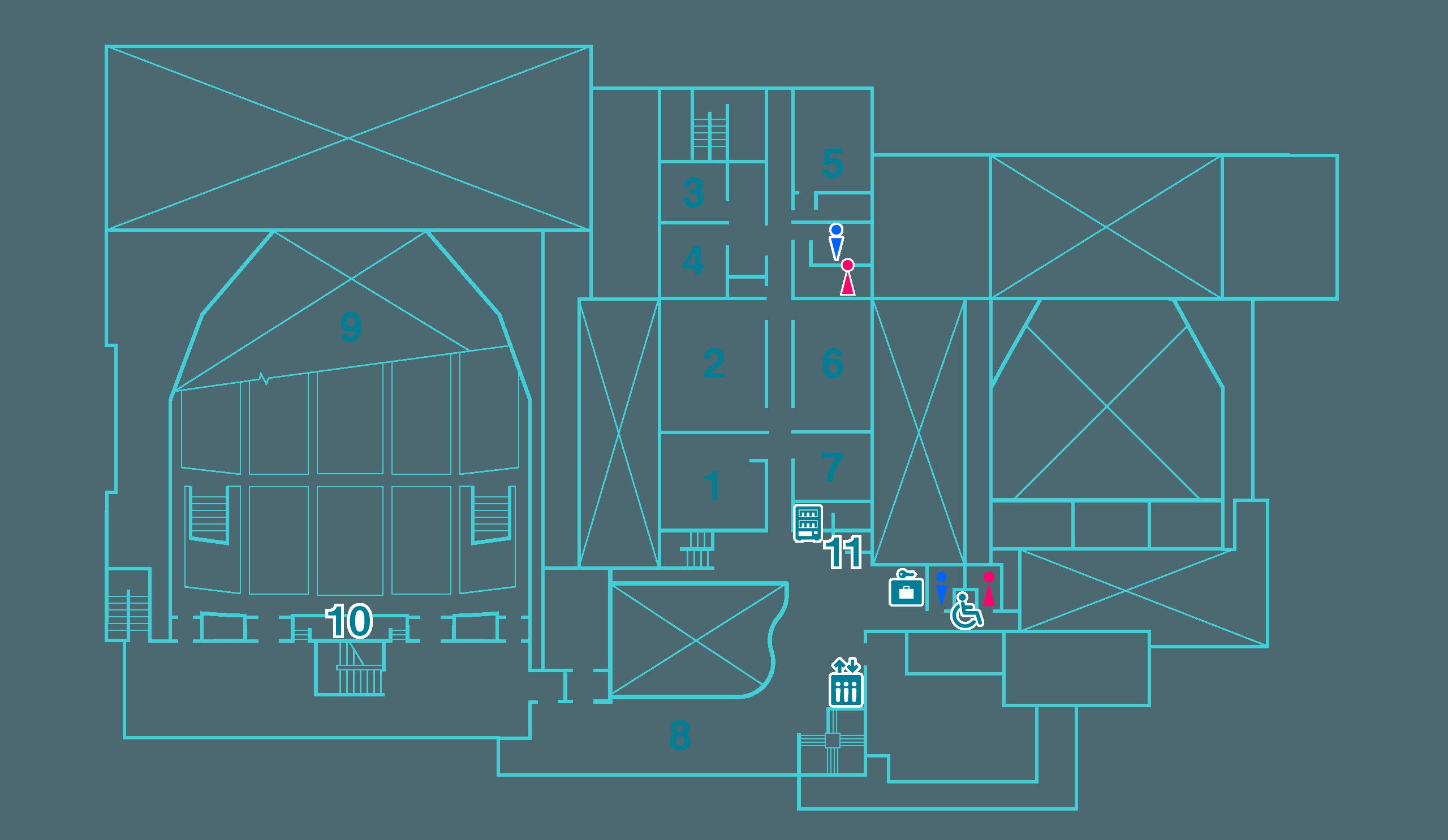 2階フロア図